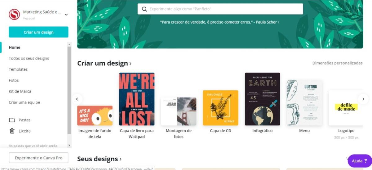 opção logotipo - como criar a sua própria logo
